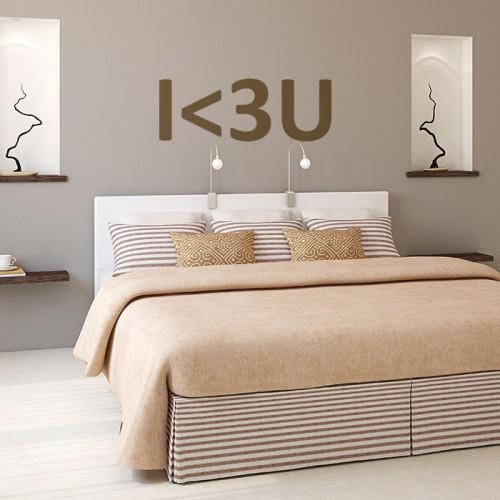 Стикер за стена I<3U - I Love You