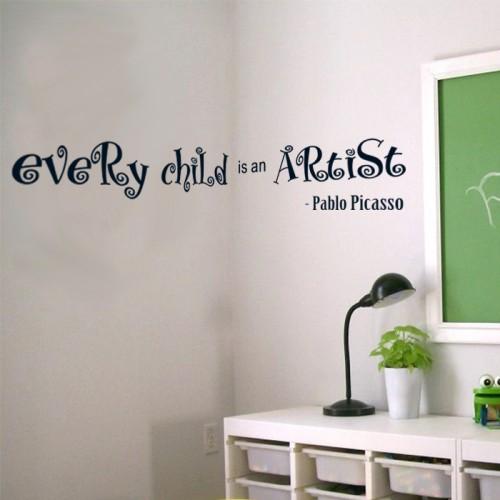 Всяко дете е артист - Пабло Пикасо -стикери от PVC