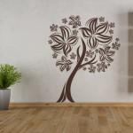 Дърво с корона от цветя - стикер
