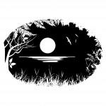 Стикер тип лунен пейзаж