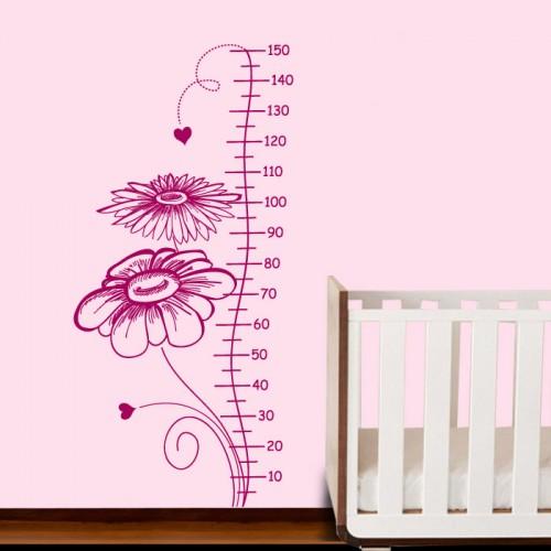 Цветя с метър - стикер за стая