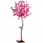 Дърво с цветни цветчета - декоративен стикер