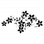 Нежни цветя - стикер за Вашата дама