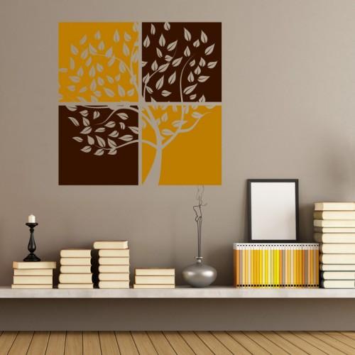 Дърво в квадрати - стикер за стена