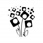 Абстрактни цветя - декоративен стикер