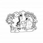 Стикер от фолио - Джунгла със сладки животни
