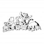 Стикер за дете - Пух и приятели