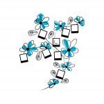 Цветя с рамки - стикер от пвц