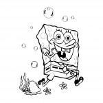 Спондж боб - детски стикер
