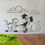 Стикери за детска стая - Сладки динозаври