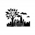 Парк и градска среда - стикер за Вашата стена
