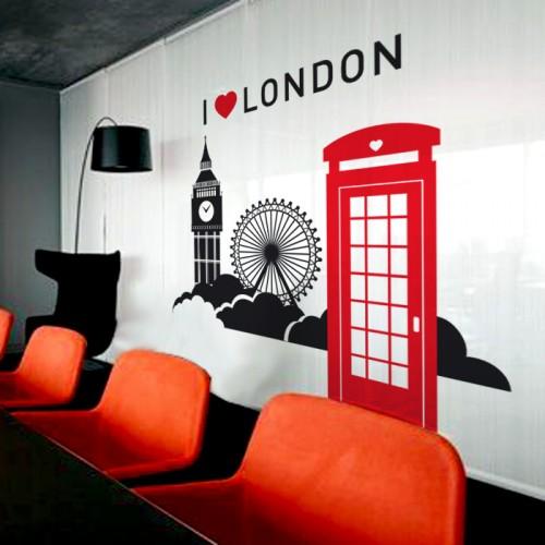 I love London - стикер за декорация