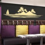 Остров с палми - декоративен стикер