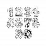 Цифри с животни - Pvc стикер