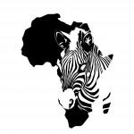 Стикер за стена - Африка и зебра