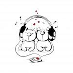Музикални котенца - пвц стикери