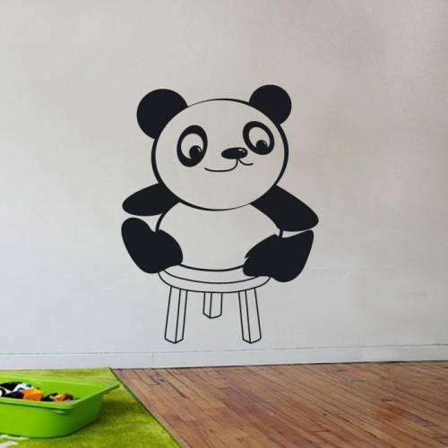 Стикер за детска стая - панда на столче