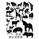 Стикери с животни и азбуката